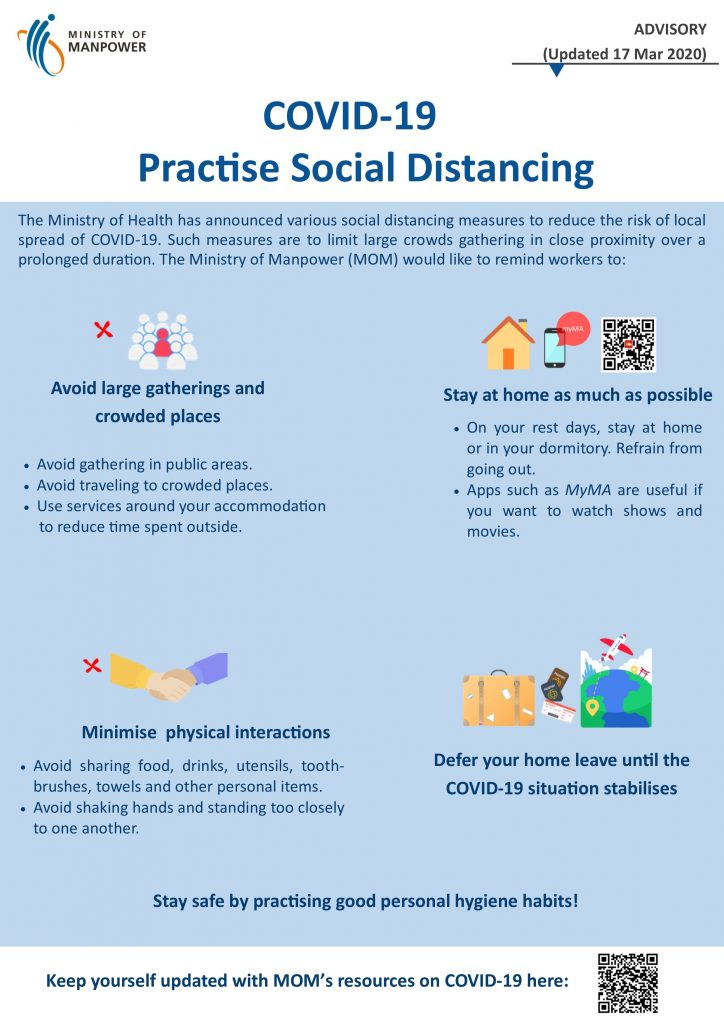Practise social distancing MOM